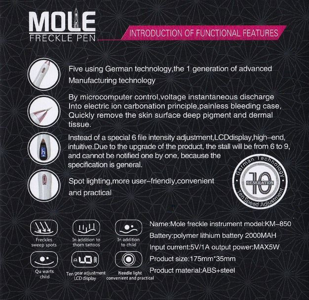 Freckle-Spot Removal Pen Functional Features